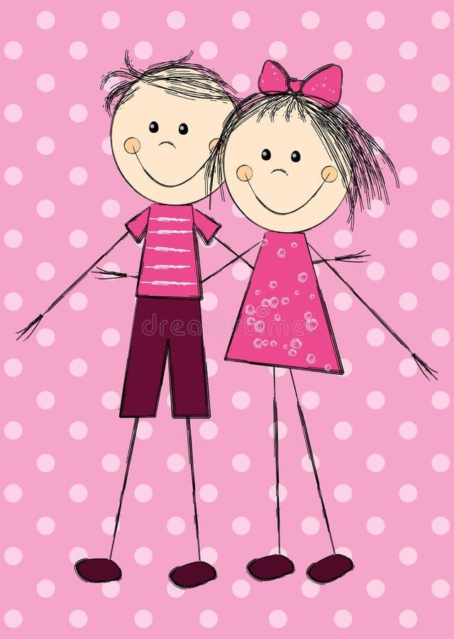 Carta del biglietto di S. Valentino royalty illustrazione gratis