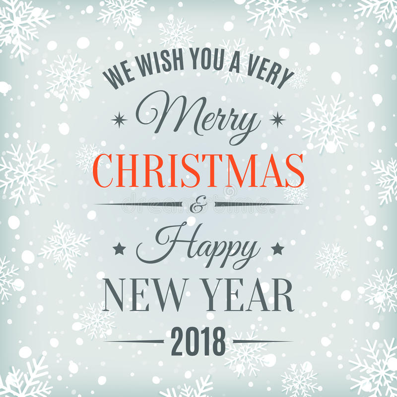 Carta del buon anno e di Buon Natale 2018 royalty illustrazione gratis