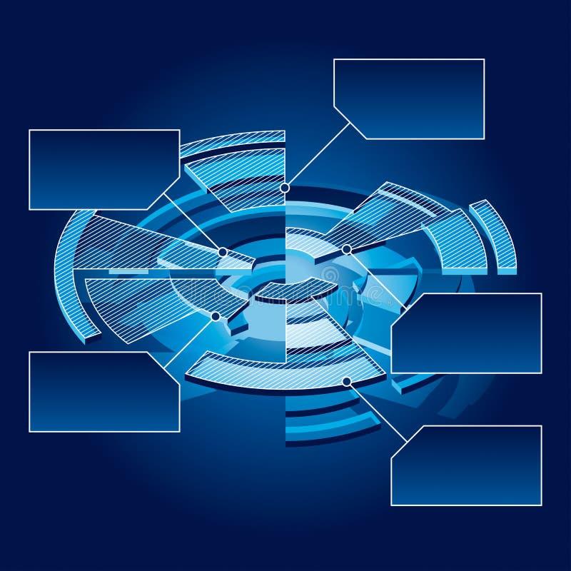 Carta del círculo ilustración del vector