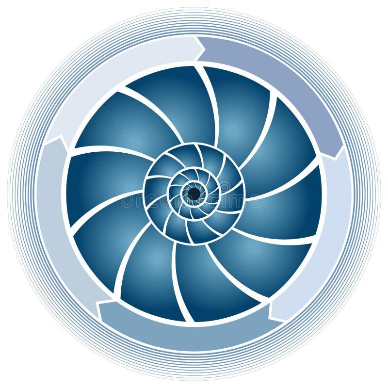 Carta del círculo del remolino stock de ilustración