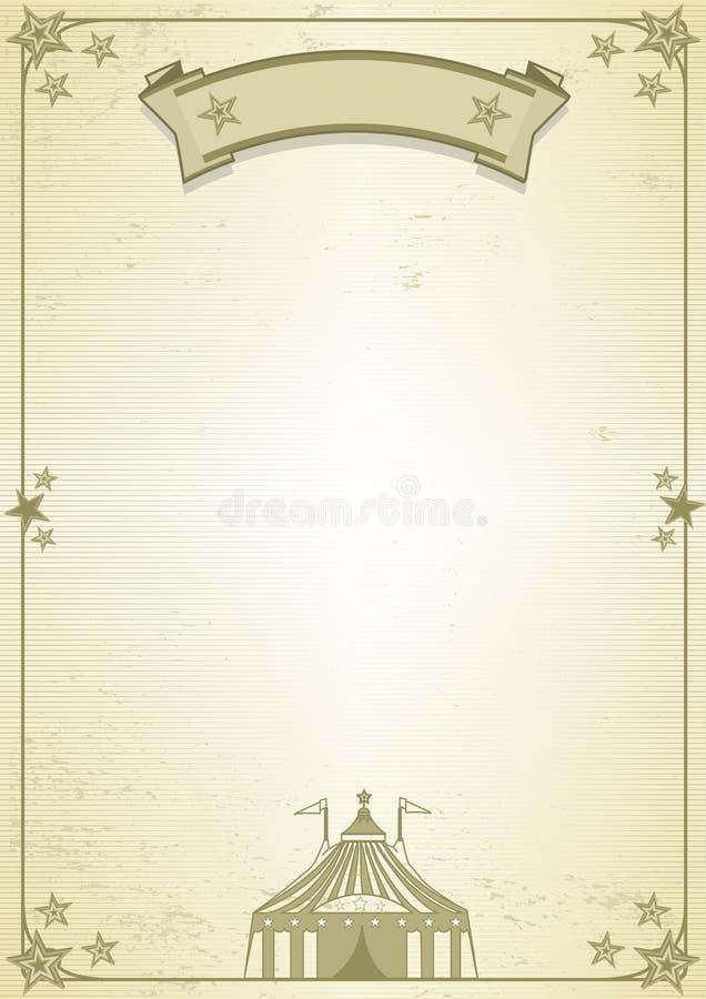 Carta del circo ilustración del vector