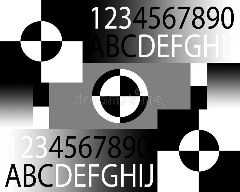 Carta del foco de la cámara ilustración del vector