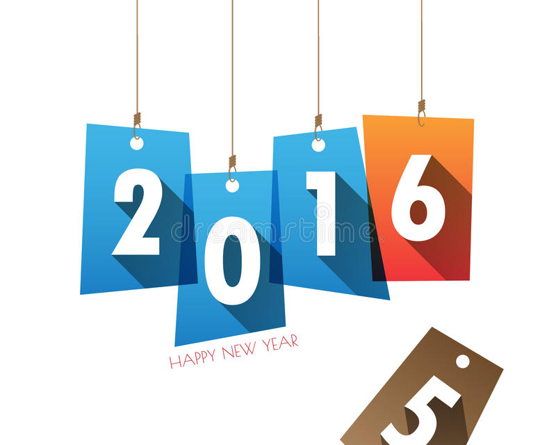 Carta 2016 del fondo del buon anno vettore/illustrazione illustrazione vettoriale