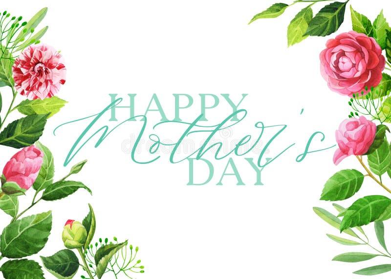Carta del giorno di Rose Garden Happy Mother illustrazione di stock