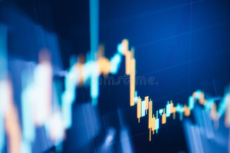 Carta del gráfico de la palmatoria del negocio del comercio de la inversión del mercado de acción imagen de archivo
