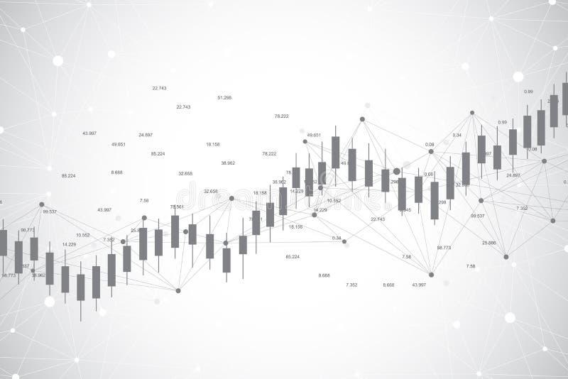 Carta del gráfico del palillo de la vela del negocio del diseño comercial del ackground de la inversión del mercado de acción Car stock de ilustración