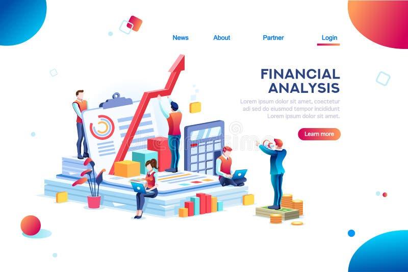 Carta del gráfico del riesgo financiero stock de ilustración