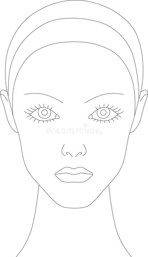 Carta del maquillaje libre illustration