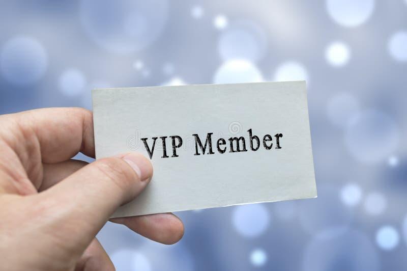 Carta del membro di VIP a disposizione fotografia stock libera da diritti