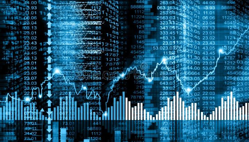 Carta del mercado de acción ilustración del vector