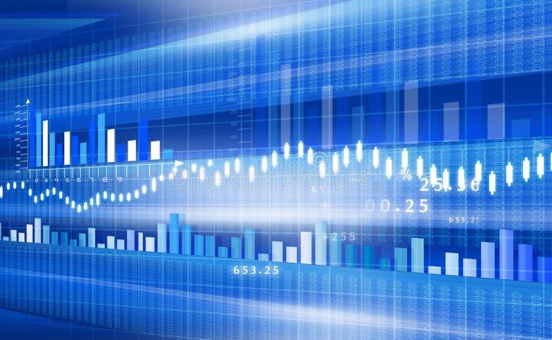 Carta del mercado de acción stock de ilustración