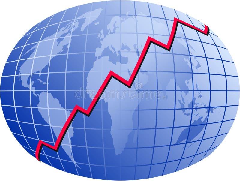 Carta del mundo stock de ilustración