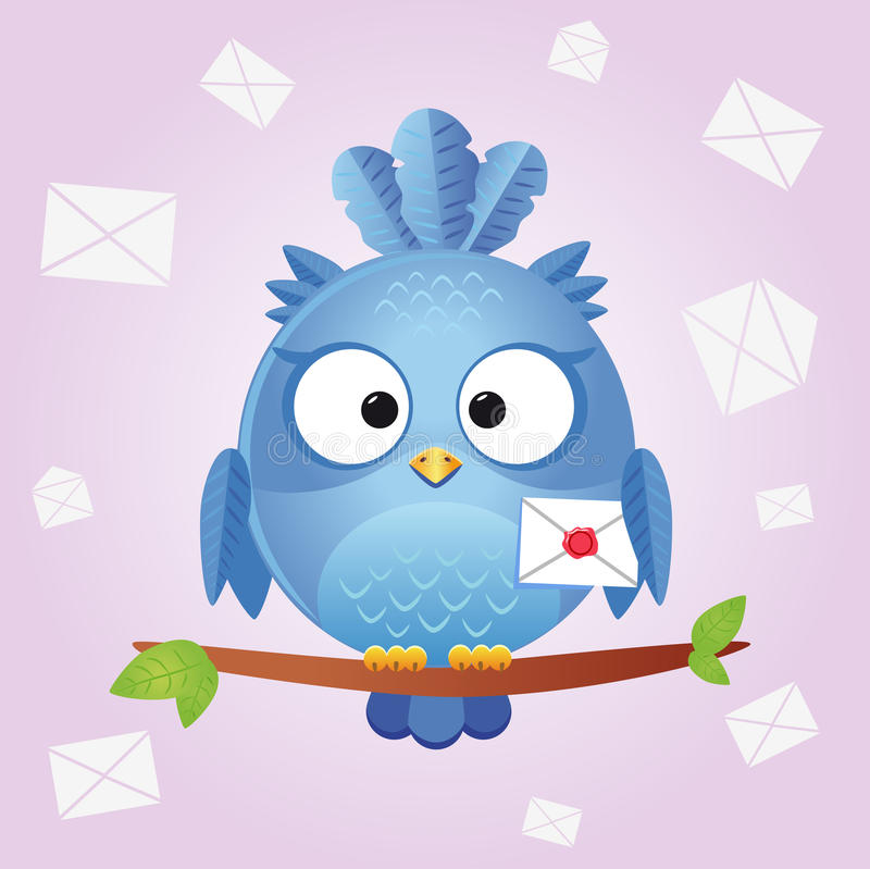 Carta del pájaro libre illustration