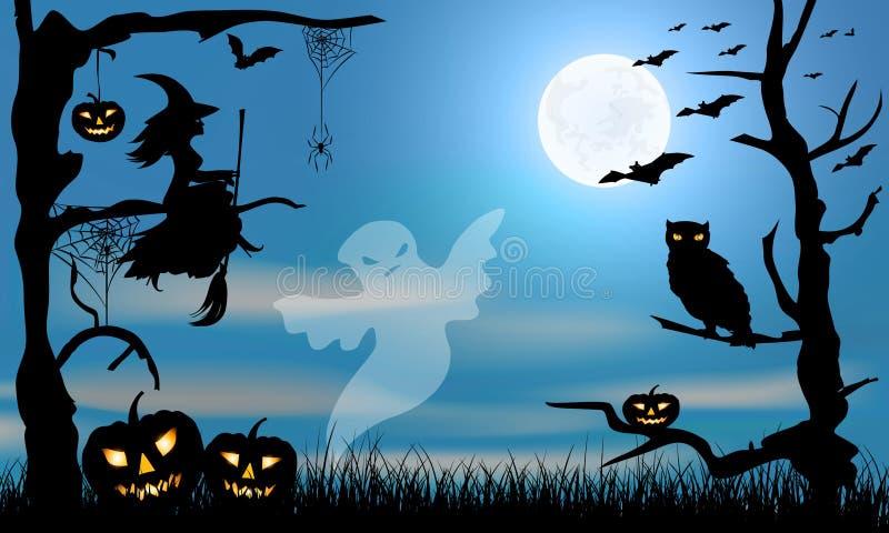 Carta del partito di Halloween illustrazione vettoriale