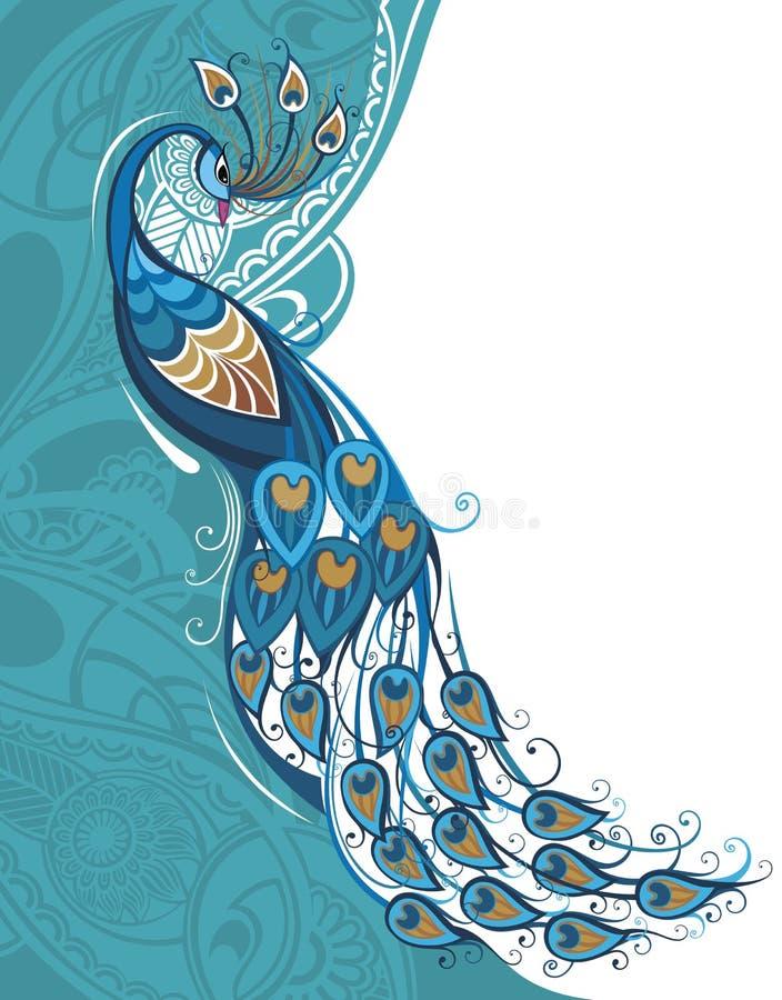 Carta del pavone royalty illustrazione gratis