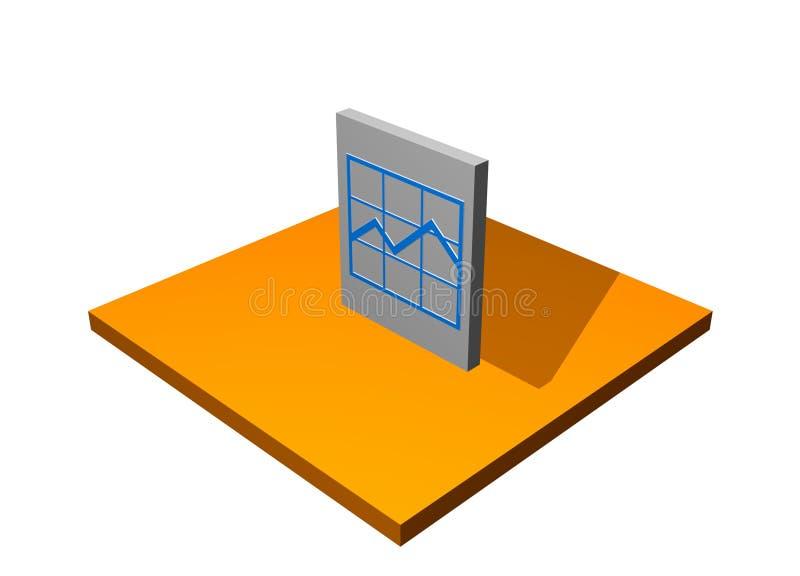 Carta del pronóstico stock de ilustración