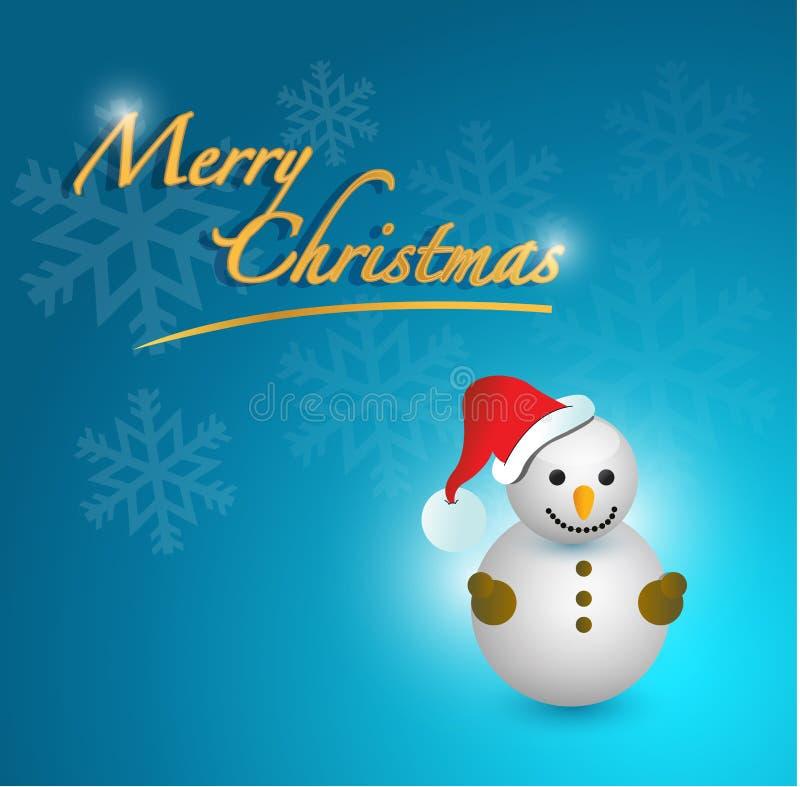 Carta del pupazzo di neve di Buon Natale royalty illustrazione gratis