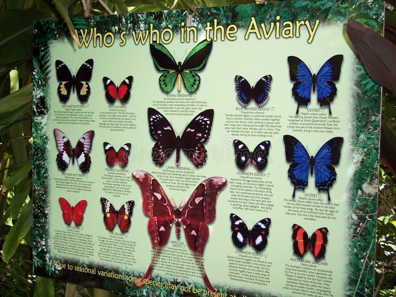 Carta del santuario de la mariposa imagen de archivo