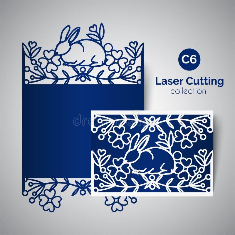 Carta del taglio del laser per il giorno di madri Migliore testo della mamma illustrazione di stock