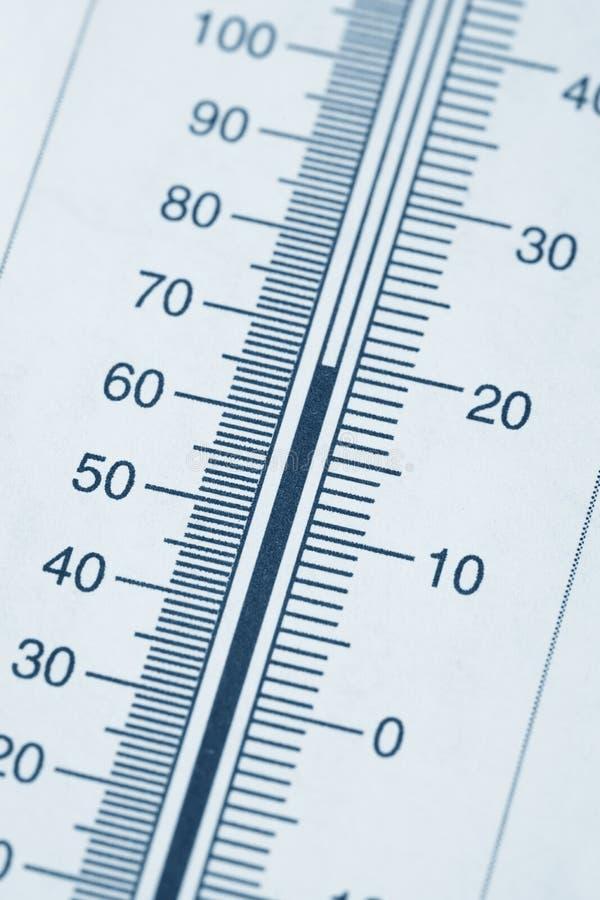 Carta del termómetro fotografía de archivo libre de regalías