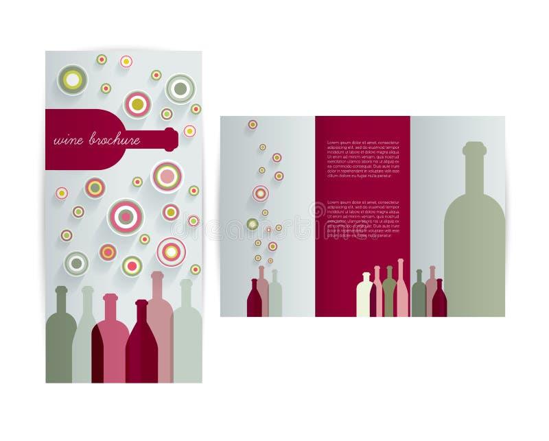 Carta del vino per il ristorante illustrazione di stock