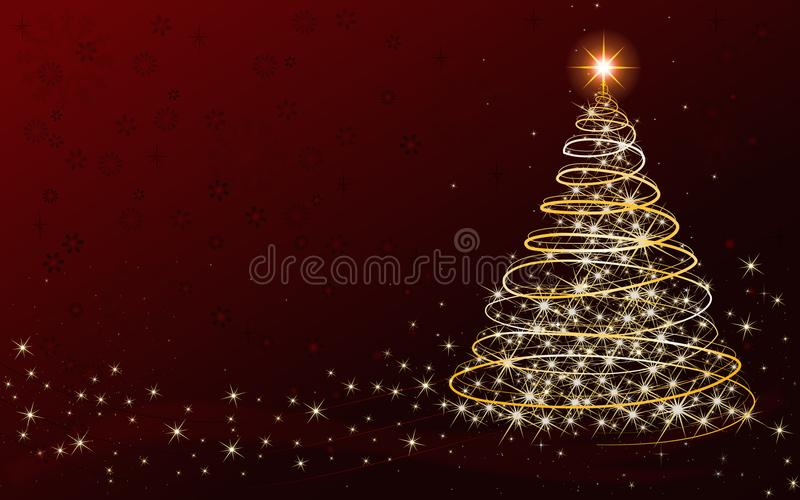 Carta dell'albero di Natale - con il posto per il vostro proprio testo immagine stock