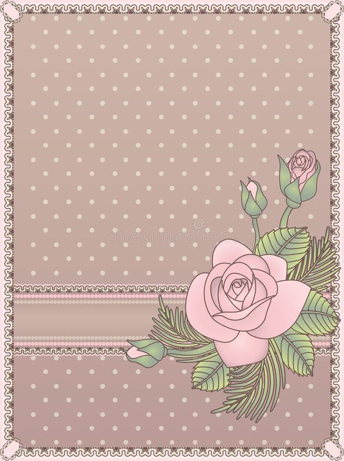 Carta dell'annata dell'invito di nozze di amore royalty illustrazione gratis