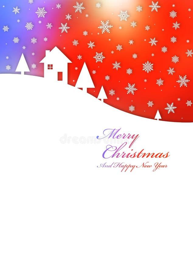 Carta dell'arcobaleno di Buon Natale illustrazione vettoriale