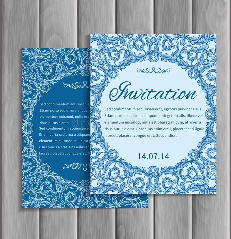 Carta dell'invito royalty illustrazione gratis