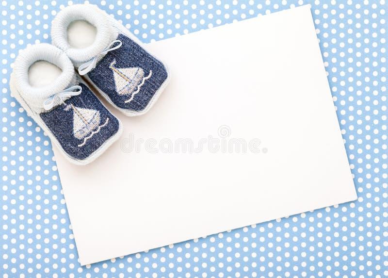 Carta dell'invito del bambino fotografie stock libere da diritti