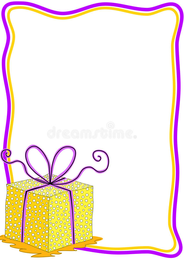 Carta dell'invito del contenitore di regalo con la struttura illustrazione vettoriale