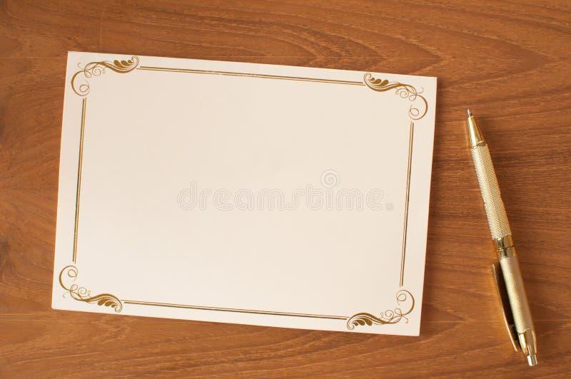 Carta dell'invito della Banca fotografie stock
