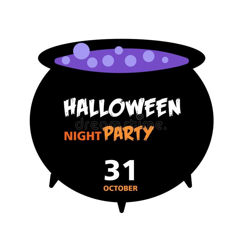 Carta dell'invito di Halloween, scherzetto o dolcetto fotografia stock libera da diritti
