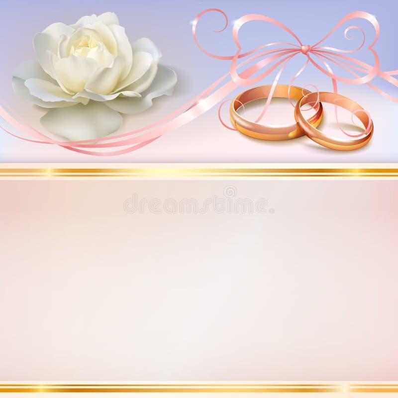 Carta dell'invito di nozze fotografia stock libera da diritti