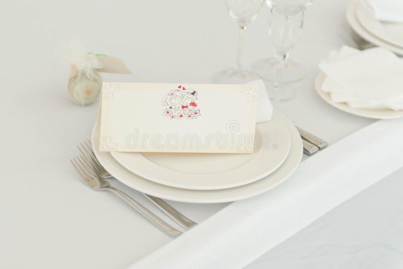 Carta dell'invito di nozze fotografie stock