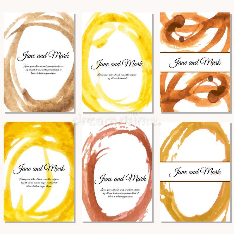 Carta dell'invito su nozze, compleanno Fondo con l'acquerello illustrazione vettoriale