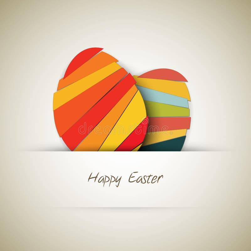 Carta dell'uovo di Pasqua della carta di vettore royalty illustrazione gratis