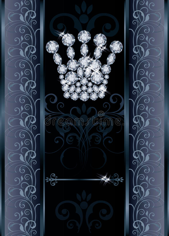 Carta della corona VIP di Diamond Queen royalty illustrazione gratis