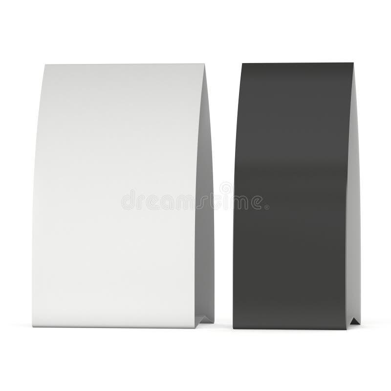 Carta della tenda della carta in bianco 3d rendono illustrazione vettoriale