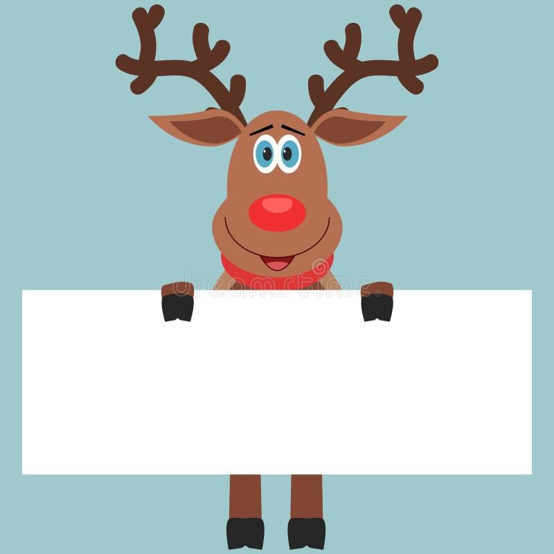Carta della tenuta della renna fotografia stock libera da diritti