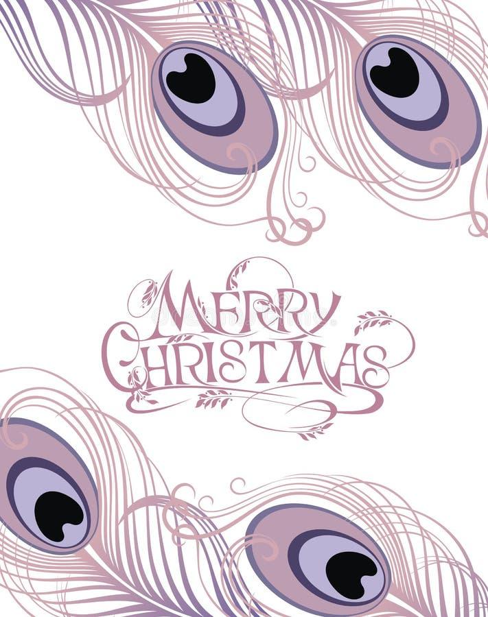 Carta delle piume di Natale illustrazione vettoriale