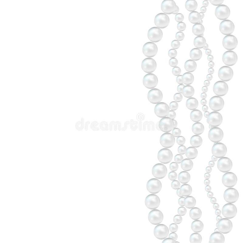 Carta dettagliata realistica del fondo della perla 3d Vettore illustrazione di stock