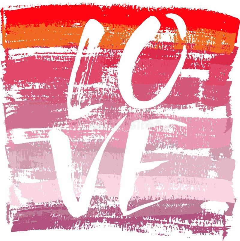 Carta di amore con cuore sopra il fondo di lerciume royalty illustrazione gratis