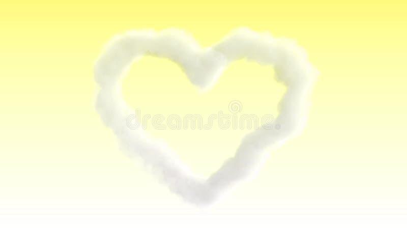 Carta di amore di giorno di biglietti di S. Valentino della nuvola illustrazione di stock
