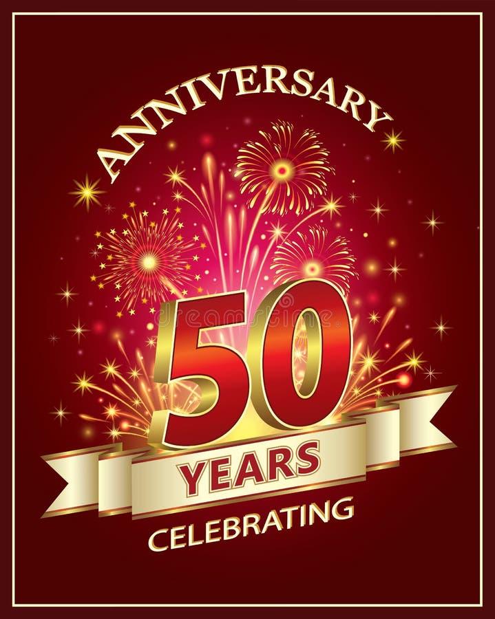 Carta di anniversario 50 anni royalty illustrazione gratis