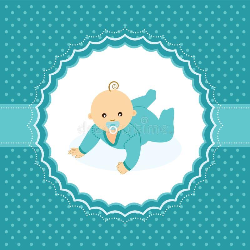 Carta di annuncio del neonato. illustrazione vettoriale