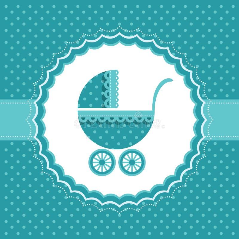 Carta di annuncio del neonato. Illustrazione di vettore. illustrazione vettoriale