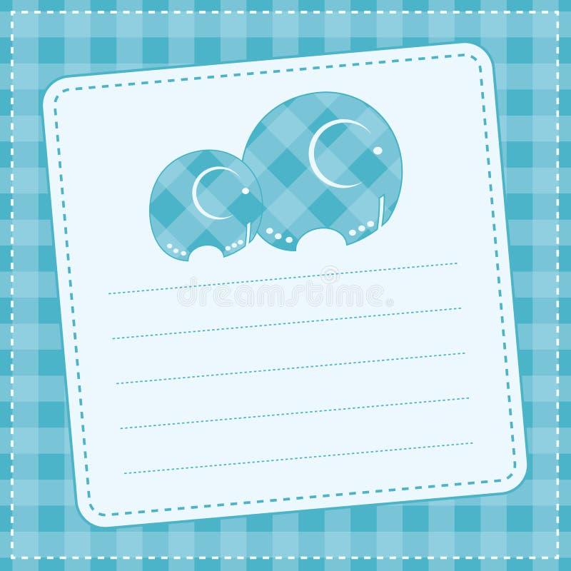 Carta di annuncio del neonato. Illustrazione di vettore illustrazione vettoriale