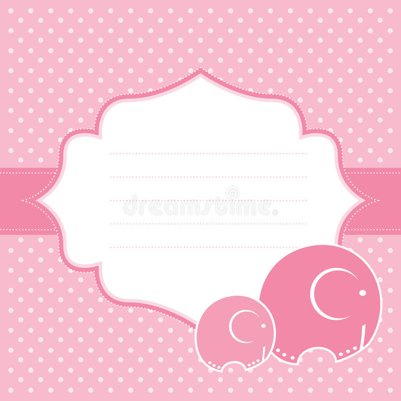 Carta di annuncio della neonata. Illustrazione di vettore. illustrazione di stock