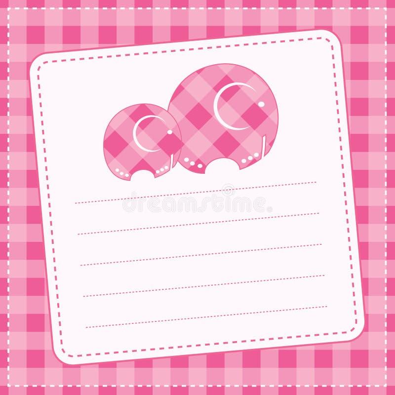 Carta di annuncio della neonata. Illustrazione di vettore royalty illustrazione gratis